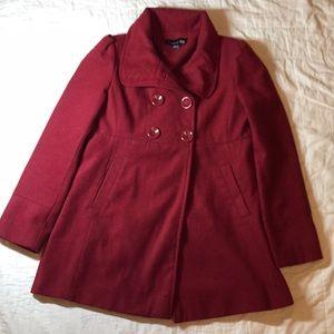 Classic Red Forever 21 Pea Coat